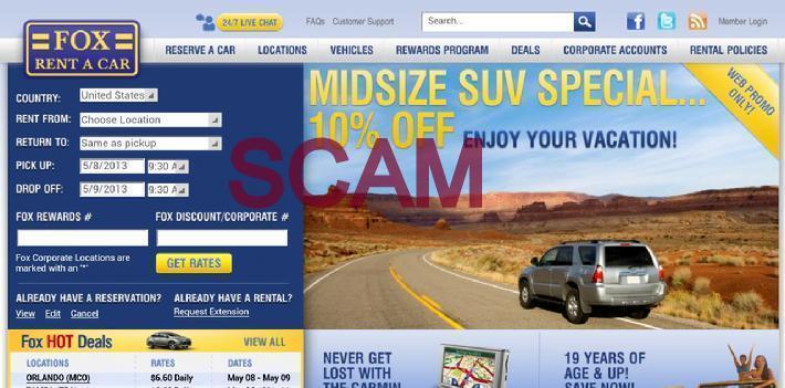 Fox Rental Car: Allreaders.net/allscams.us
